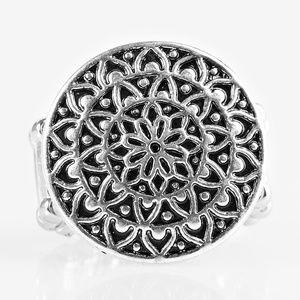 Petal Mantra - silver ring